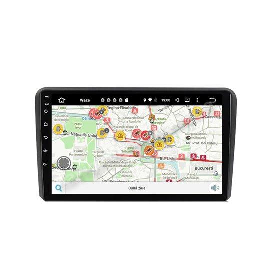 Navigatie Carplay Android 10 Audi A3 Octa Core 6GB Ram 128GB SSD Ecran 9 inch NAVD-US9048