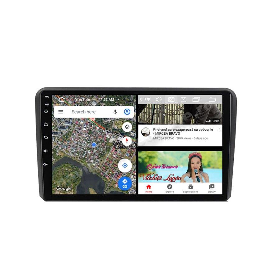 Navigatie Android 10 Audi A3 Octa Core 4GB Ram Ecran 9 inch NAVD-Z8048