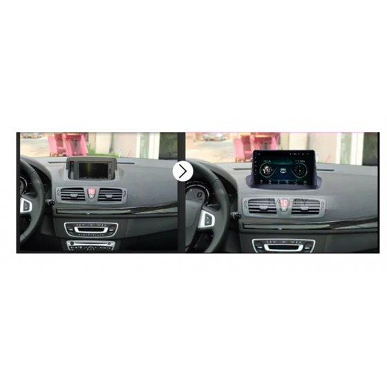 Navigatie Android 10 Renault Megane 3 Fluence Octa Core 4GB Ram Ecran 9 inch NAVD-Z8045