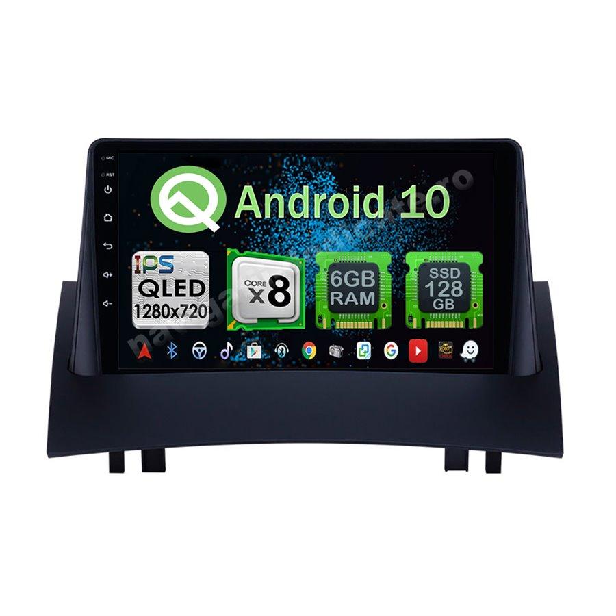 Navigatie Android 10 Renault Megane 2 2004-2008 Octa Core 4GB Ram Ecran 9 inch NAVD-Z8046