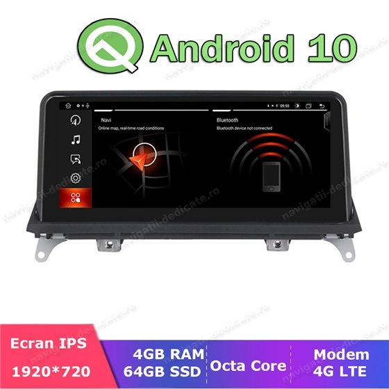 Monitor Navigatie Android 10 BMW X5 E70 X6 E71 Octa Core 4GB Ram Bluetooth GPS USB NAVD-E70CIC MTK