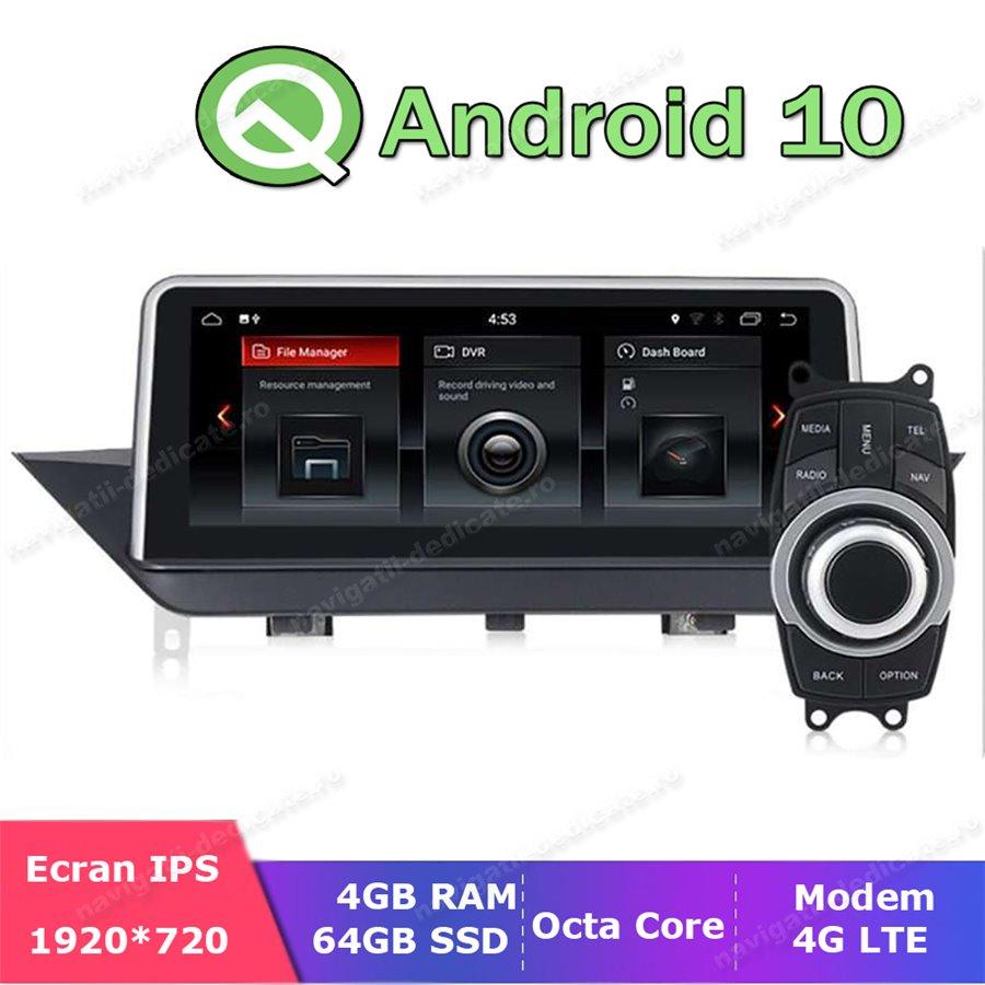 Monitor Navigatie Android 10 BMW X1 E84 Octa Core 4GB Ram Bluetooth GPS USB Ecran 10.25 inch NAVD-E84 X1 MTK