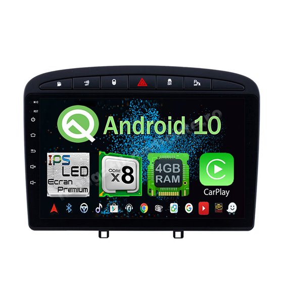 Navigatie Android Peugeot 308 Octa Core 4GB Ram Ecran 9 inch NAVD-Z8052