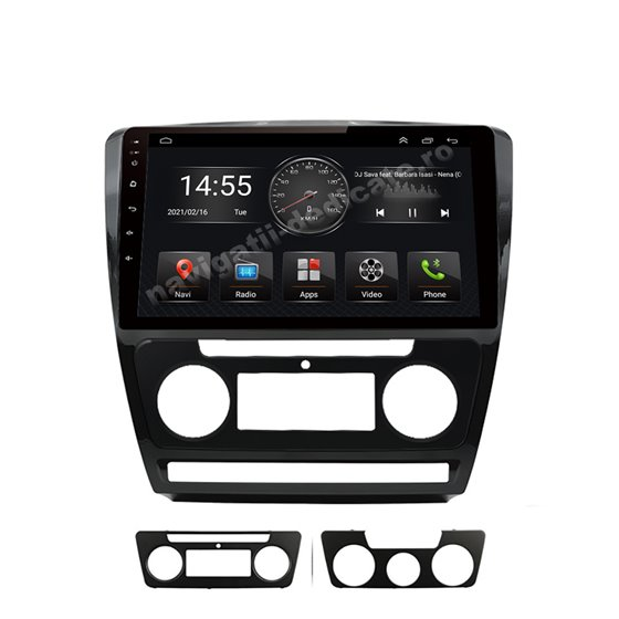 Navigatie Android Skoda Octavia 2 Facelift 2GB Ram Ecran 10 inch NAVD-AC10725