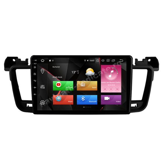 Navigatie Carplay Android 10 Peugeot 508 Octa Core 6GB Ram 128GB SSD Ecran 9 inch NAVD-US9061