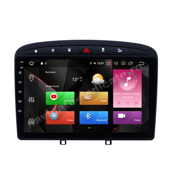 Navigatie Carplay Android 10 Peugeot 308 Octa Core 6GB Ram 128GB SSD Ecran 9 inch NAVD-US9057