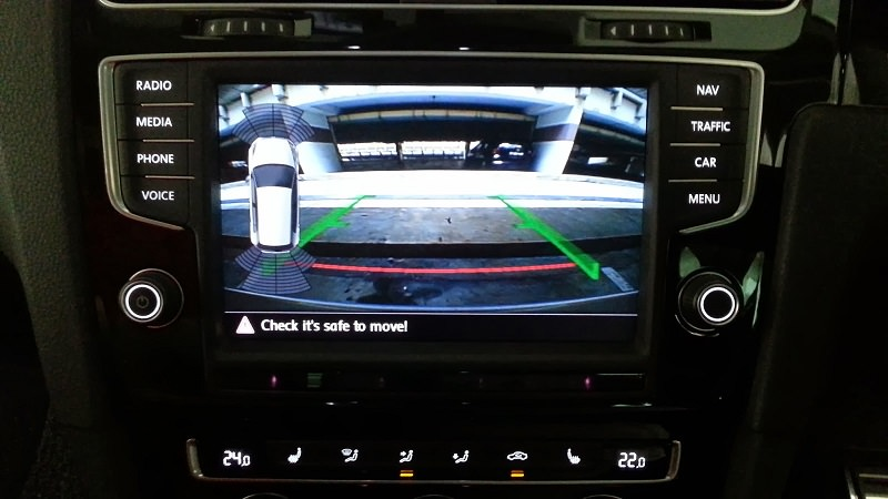 vw golf 7 camera video auto spate